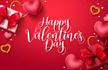 Happy Valentines Day Vector Ba...