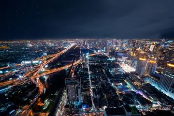 Bangkok skyline seen from the tallest building in bangkok.