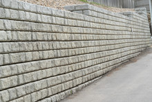 Retaining Wall In Residential Area To Protect Against Erosion
