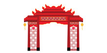 Chinese Gate Architecture Isol...