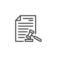 Law Document File Line Icon. C...