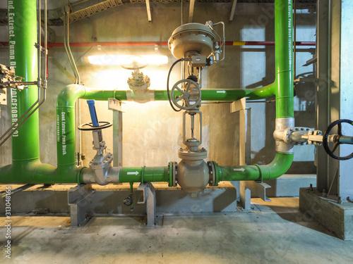 Valokuvatapetti control valve in power plant