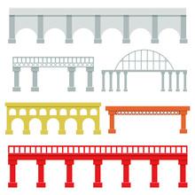 Bridges Set Vector Design Illustration Isolated On White Background