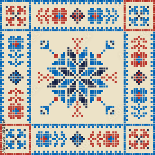 Palestinian embroidery pattern 251 Wallpaper Mural