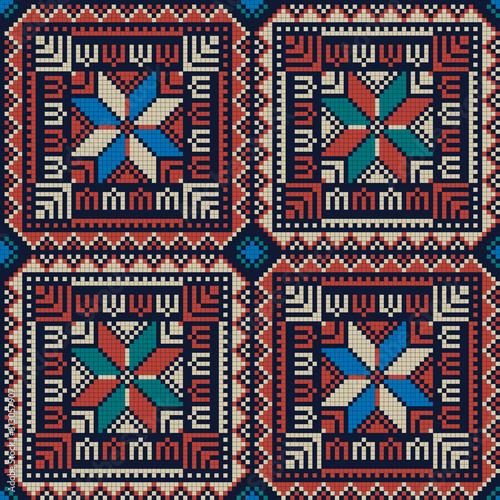 Photo Palestinian embroidery pattern 295