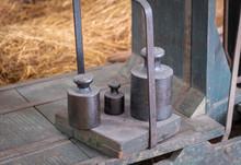 Vintage Iron Weights On Vintag...