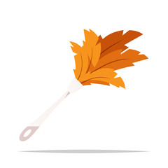 Feather duster vector isolated illustration