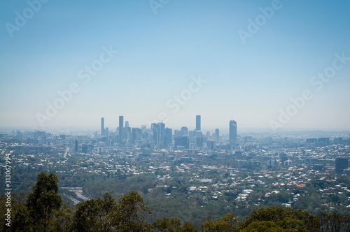 Brisbane city view from Mount Coot-Tha
