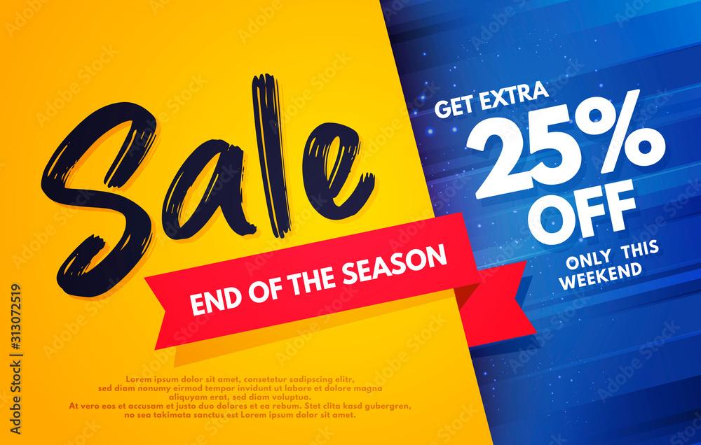Fototapeta Vector Illustration End Of The Season Sale Banner Template