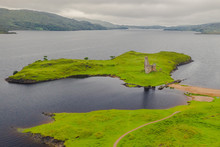 Aerial View Of Ardvreck Castle