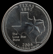 Coin 25 US Cents. States And Territories. Texas