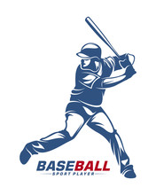 Baseball Player Vector Silhoue...