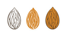 Almond Logo. Isolated Almond O...