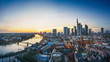beautiful landscape - frankfurt am main at sunset