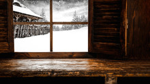 Window Sill Background And Fre...