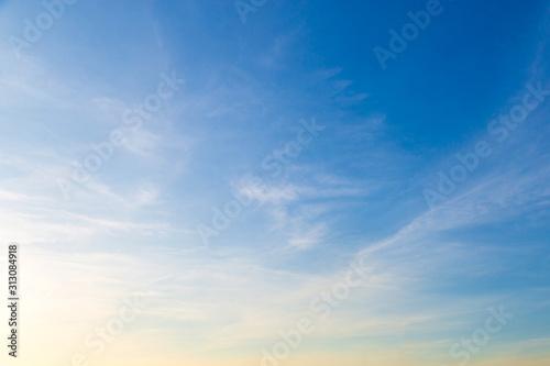 Obraz White clouds in blue sky at morning. - fototapety do salonu