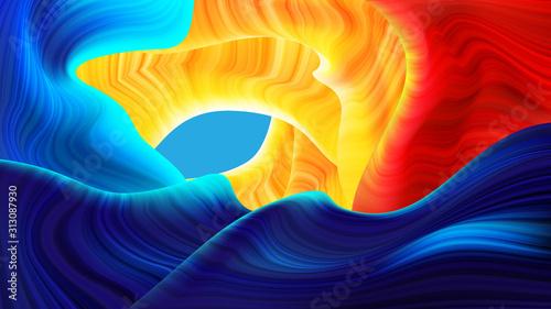 Fotografie, Obraz  Abstract Antelope Plane in Vector