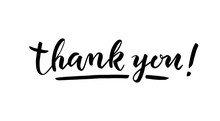 Thank You Lettering On White B...