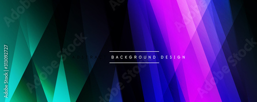 Fotomural  Dynamic trendy simple fluid color gradient abstract background with line effects
