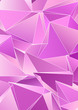 canvas print picture - Triangular 3d, modern background