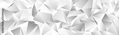 Fototapeta 3d Triangles, abstract  background. Design wallpaper. obraz