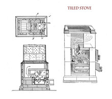 House Appliance:tiled Stove Wo...