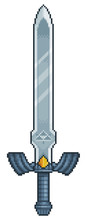 Pixel Art Link Sword, 8bit Game