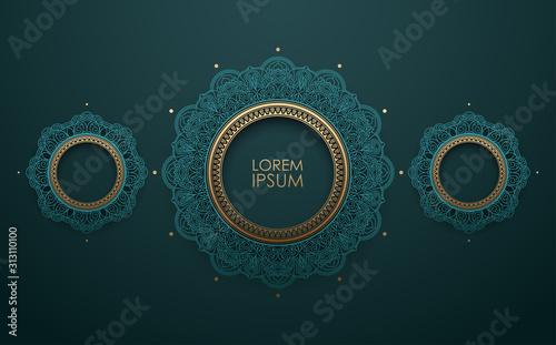 Fotografiet  Vintage decorative circle ornament background