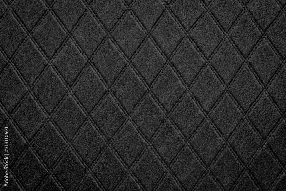Fototapeta Luxury black leather texture background