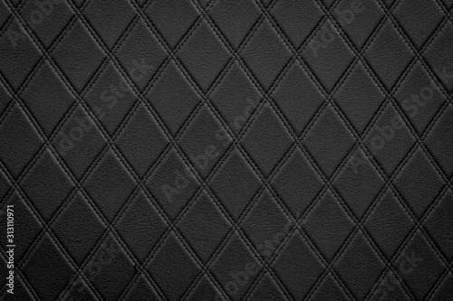 Luxury black leather texture background Canvas Print