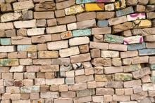 Used Bricks Pile