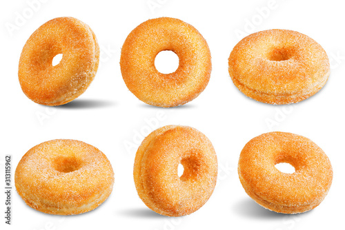 Photo Donut on a white isolated background
