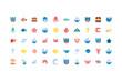 Isolated sea life icon set vector design