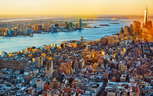 Aerial Panoramic View On Skyli...