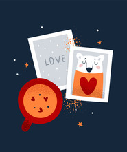 Concept Of Love Message With C...