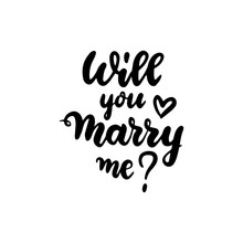 Will You Marry Me Handwritten Lettering