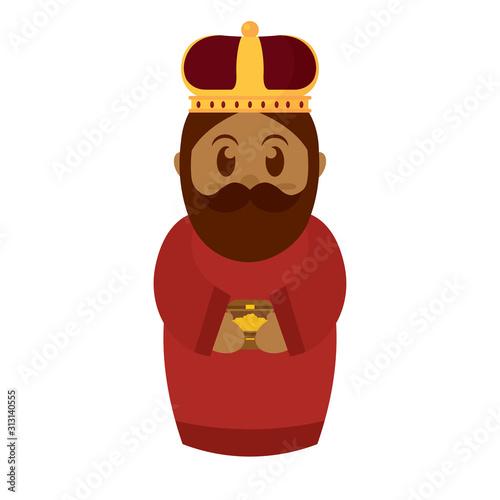 Reyes magos. Balthazar, melchior and gaspar Canvas Print
