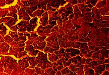 Dark Glowing Lava Background