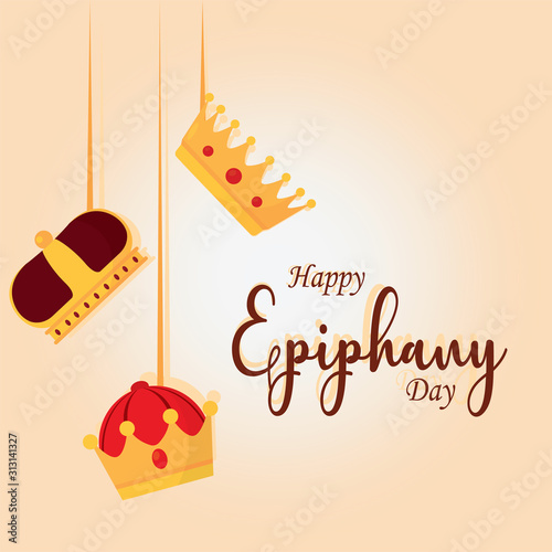 Obraz Happy epiphany day poster - fototapety do salonu
