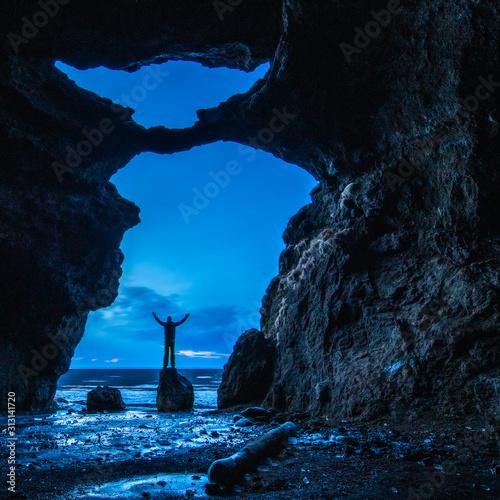 Obraz na plátně Yoda Cave in Iceland