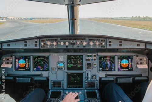 Cockpit View Wallpaper Mural