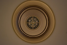 Looking Up At A Ceiling In An ...