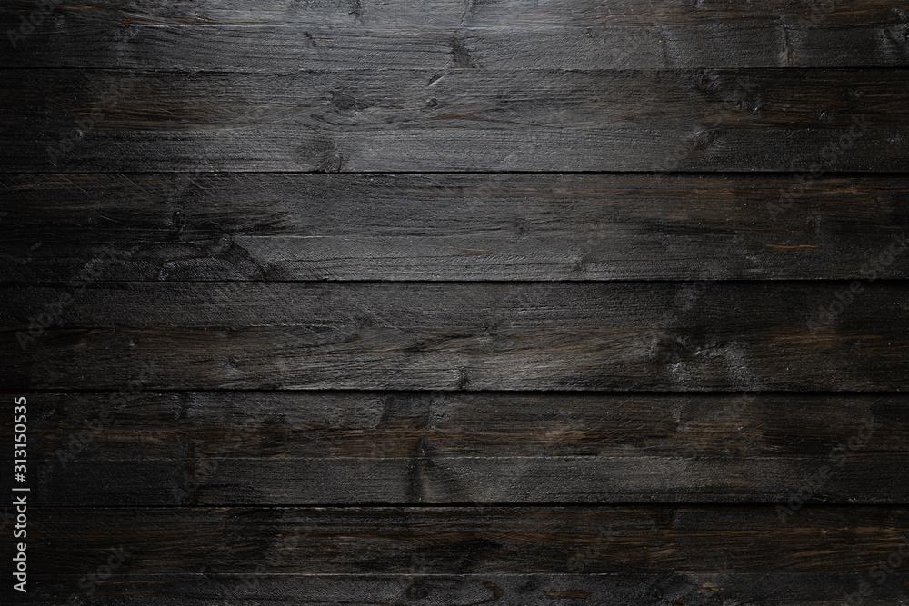 Fototapeta Black wooden background