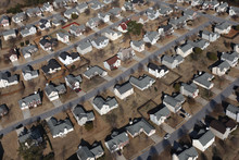 Aerial View Of Pleasant Suburb...