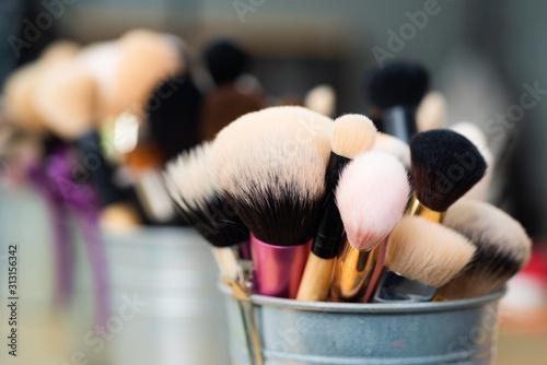 Fotomural Facial brush set for makeup artist or visagist