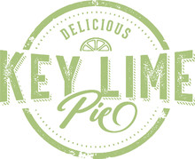 Vintage Key Lime Pie Dessert Menu Stamp