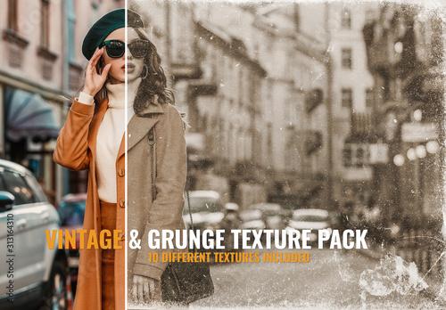 Obraz Vintage Texture Photo Overlay - fototapety do salonu