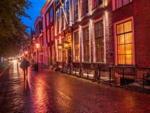 Houses At The Seaport At Dusk,...