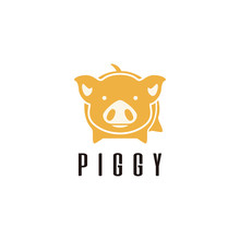 Pig Logo Design Template Stock Vector