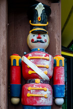 Weathered Wooden Toy Soldier